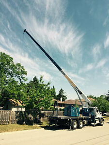Mobile Crane Rental Boom Truck Flat Bed - Starting @ 135 hour!