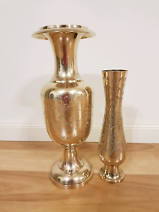 Vintage Indian Brass  Vases Gulfview Heights Salisbury Area Preview
