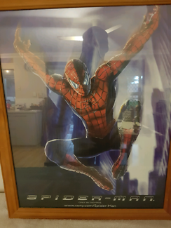 AMAZING SPIDER-MAN PICTURE FRAMED EXCELLENT CONDITION