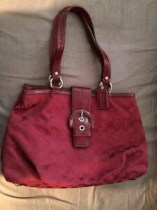 Red Coach Purse - practically brand new
