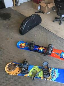 Two Snowboards + Boots