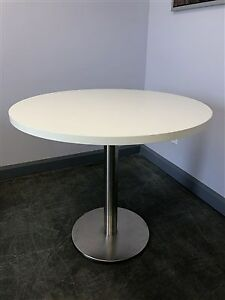 "36"" Round Table - Chrome Base - $175"