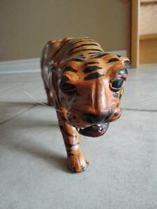 Tiger statue figurine leather decorative accent London Ontario image 3