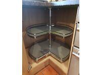 Corner Kitchen Storage Carousel 270 degrees Three Quarter