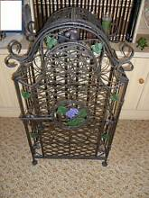 Wrought iron 25 bottle wine rack Kingaroy South Burnett Area Preview