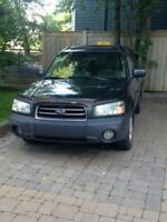 2005 Subaru Forester green Wagon