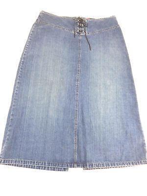 womens blue jean skirt size 16 ebay