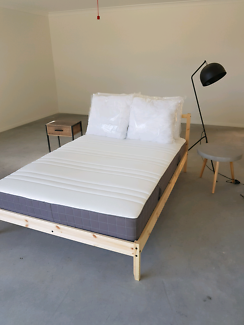 Double bed frame and mattress brand new