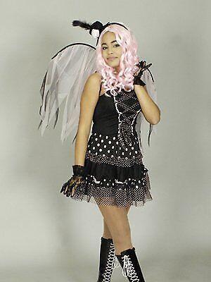 Schwarzes Kleid Für Halloween-kostüme (Manga Hexen Kostüm Yuna schwarz für Damen Gr. 40 bis 42 Halloween 5078911)