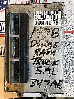 1998 DODGE RAM TRUCK 5.9L V8 ECM ECU PCM ENGINE COMPUTER P56046347AE 347 347AE