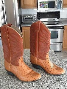 """""""REDUCED""""--WESTERN LEATHER BOOTS, MADE IN CANADA, size 9.5, NEW"""