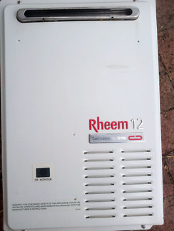 Rheem continuous gas hot water system