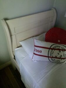 White sleigh sled single bed Brighton Brisbane North East Preview