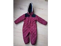 Brand New Unisex Jasper Conran (Debenhams) Winter All in One Snowsuit | Age 2-3 | £10
