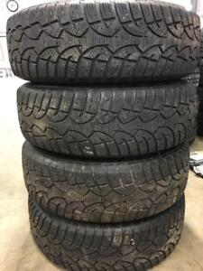 Set of 215/70R16 winter tires and 5 X 114 wheels