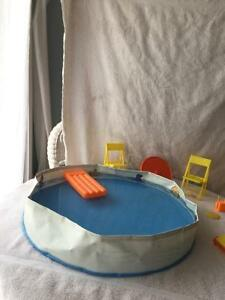 Collectible Beach Blast Barbie Pool and Accessories