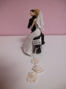 Bride and Groom on Motorcyle Cake Topper Kawartha Lakes Peterborough Area image 2