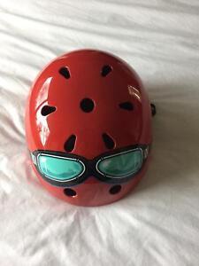 Kiddimoto helmet red with goggkes Success Cockburn Area Preview