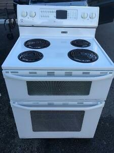 Great Heavy Duty  Maytag Double Oven (white -Clean*)