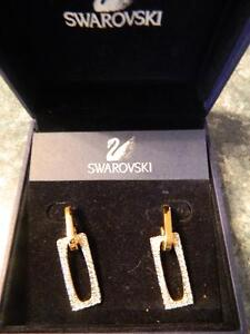 Gold plated earrings with Swarovski Crystals