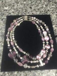 Hand crafted one of a kind necklace /earrings