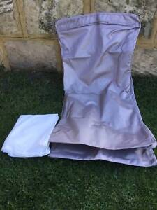 NEW Heavy duty outdoor / pool beanbag with liner   Silver colour Kewdale Belmont Area Preview