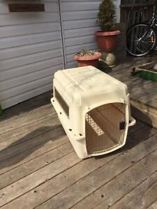 Large Dog Crate Plastic Good Condition