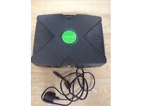 Xbox console with mains lead