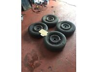 ★ Fiat punto 4 x 14 inch steel wheels and 165/70/r14 tyres £15 Each ★