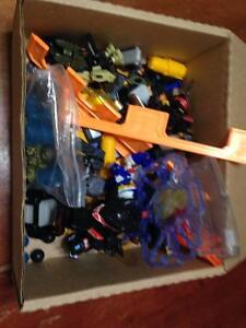one box of B-Damon toys - game? pieces parts & figures