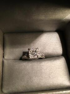 White gold ring 10K. 0.50CT OBO