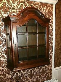 Large Oak Display Cabinet