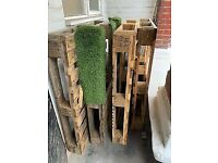 4 x wooden euro pallets