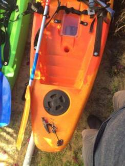 2Finn Gizmo kayaks with paddle good condition $425 EACH