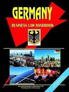 NEW Germany Business Law Handbook by Ibp Usa