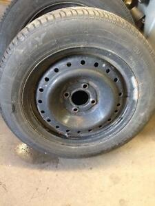 4 rims with tires P185 65 15