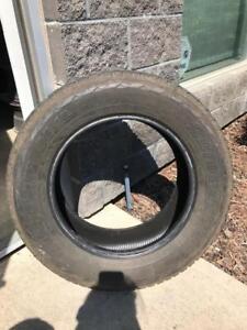Four 255/60R17 Bridgestone Dueller H/L Tires 70%