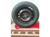 Brand new spare tyre and wheel