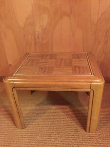 Wooden/Glass Coffee Table and end tables