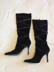 Women's Black Dress Boot (Aldo / Size 7.5, Euro size 38)