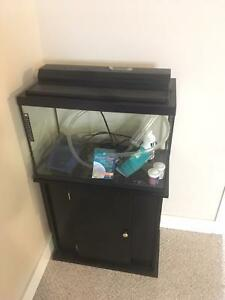 20 Gal Fish Tank and Cabinet