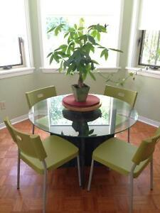 Beautiful glass and marble table Peterborough Peterborough Area image 1