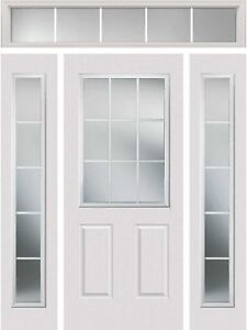 Entry Door Glass Insert including 2 sidelights and 1 transom