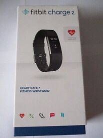 Brand New Unopened Fitbit Charge 2 for sale, black , small or large.