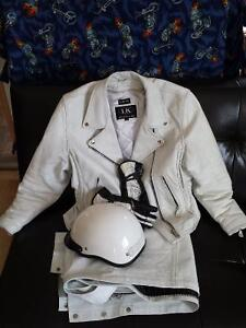 Ladies White Leather Riding Gear