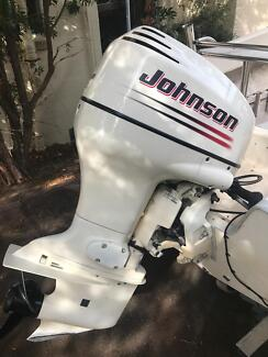 Johnson 90HP oil injected outboard with power trim tilt low hours