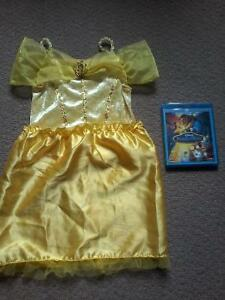 Beauty and the Beast Bluray / DVD & Belle's costume $15.00