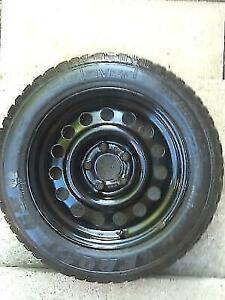 Snow tires Sweden brand 5 % used on steel rims, 185/65/R15 size