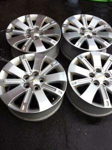 CHEVY EQUINOX 2014 FACTORY OEM 18 INCH ALLOY WHEELS WITH SENSORS IN EXCELLENT CONDITION.
