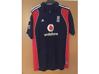 Official Men's England Cricket Shirt One Day International 2008 Medium (practically new)